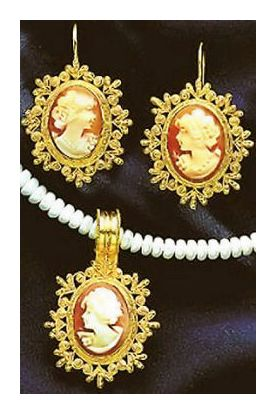 Set of Victorian Cameo Earrings