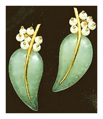 Aventurine Frond Earrings