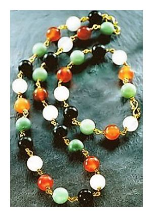 Set of Gemstone Bead Necklace & Bracelet