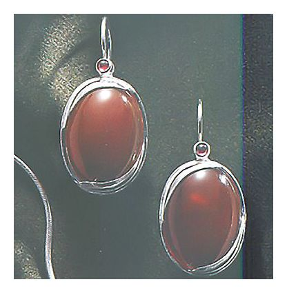 Autumn Light Carnelian Earrings