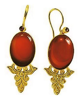 Contessa Carnelian Earrings