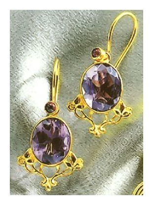 My Fair Lady Amethyst Earrings