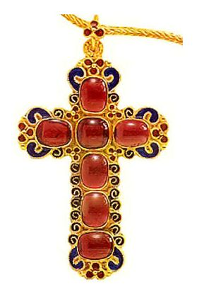 Saint Joan Garnet Cross Necklace