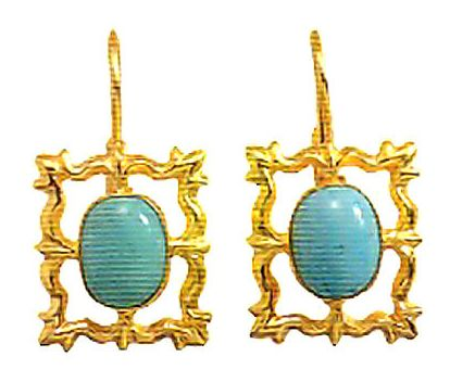 Turquoise Portrait Earrings