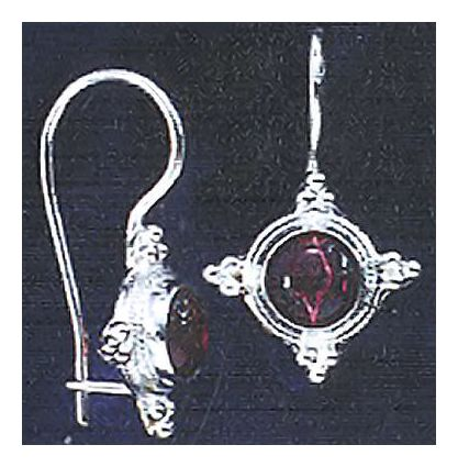 Thira Garnet Earrings