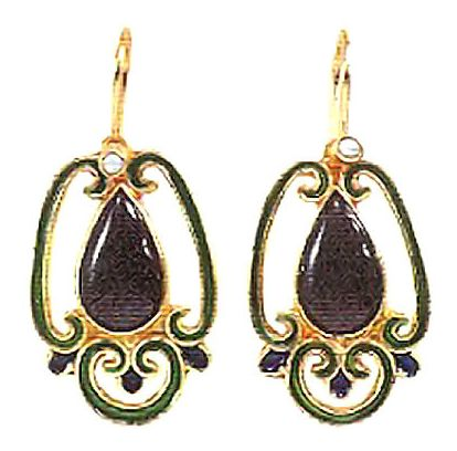 Onyx Birdcage Earrings
