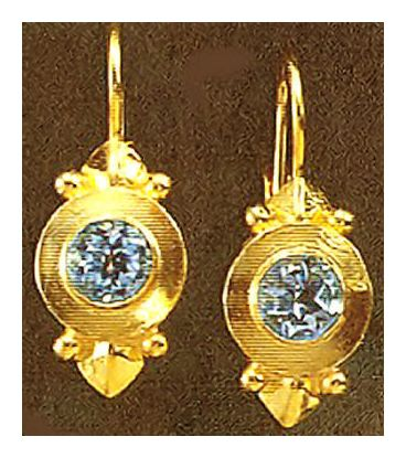 Ostia Blue Topaz Earrings