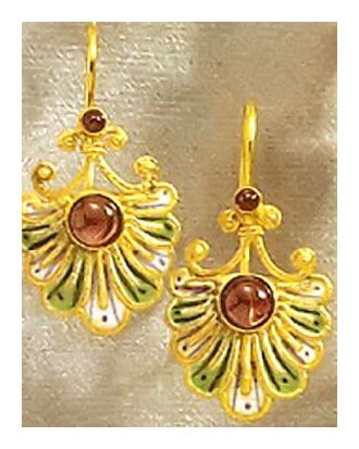 Renaissance Madrigal Garnet Earrings