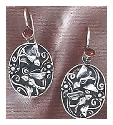 Silver Aviary Earrings