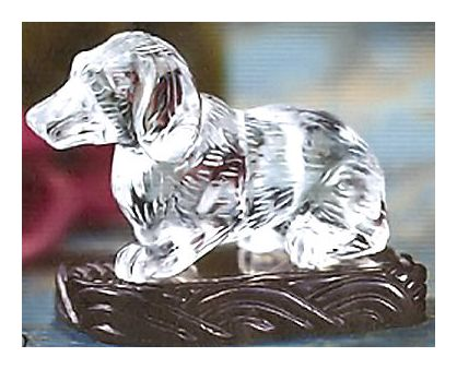 Hand Carved Crystal Dog