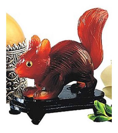 Hand Carved Carnelian Squirrel