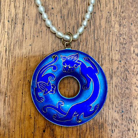 Vintage Shashi Dragon Necklace