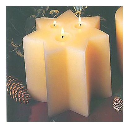 Sunrise Holiday Star Candle