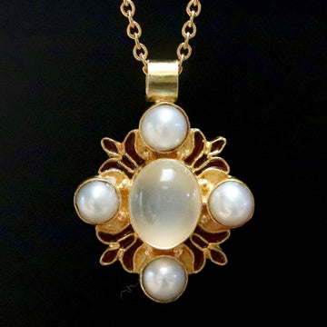 Bel Canto Moonstone and Pearl Necklace