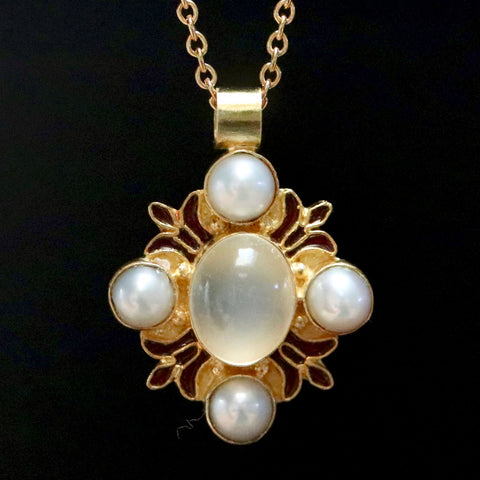 Bel Canto Moonstone & Pearl Necklace