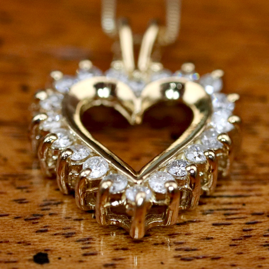 Love Sonnet 14k Gold and Diamond Necklace