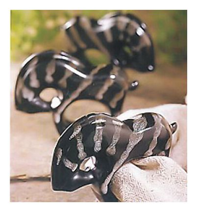Somalian Zebra Napkin Rings-Set of 6