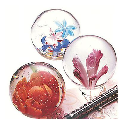 Set of Flora Paperweights