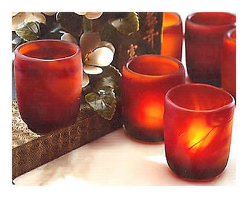 Sunset Candle Glasses