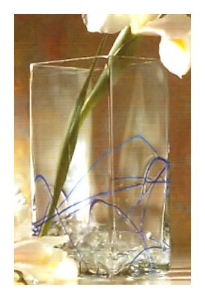 Blue Line Glass Vase