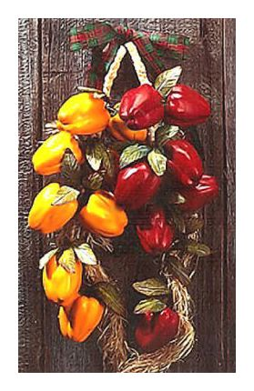 Pair of Merry Red & Yellow Pepper