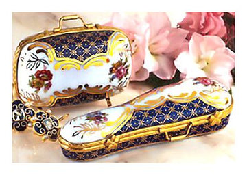 Miniature Porcelain Suitcase