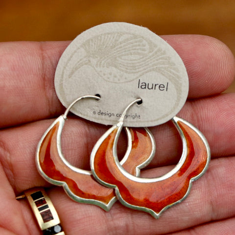 Vintage Laurel Burch Fire Hoops