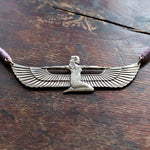 Vintage Laurel Burch Isis Silver Egyptian Revival Necklace
