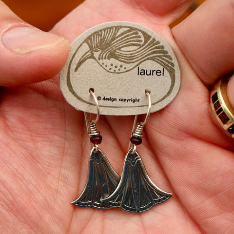 Vintage Laurel Burch Small Papyrus Silver-Plate Earrings