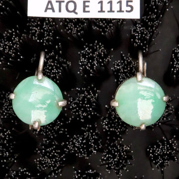 Antique Qing Dynasty Jade Disk Earrings