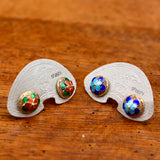 Vintage Shashi Flower Button Studs