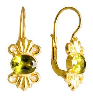 Isolde Peridot Earrings timeless high fashion silver jewelry design
