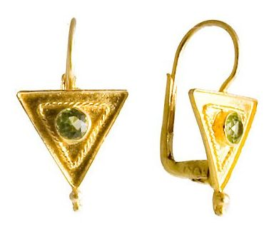 Marc Antony Byzantine Peridot Earrings sterling silver jewelry classic