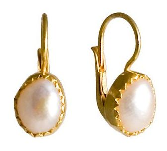 Oxford Pearl Silver Earrings evoking Romantic Italian Renaissance jewelry