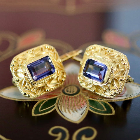 14k Selsey Iolite Earrings
