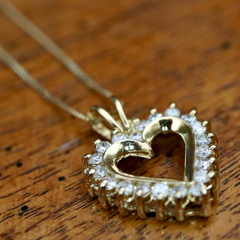 14k Love Sonnet Diamond Necklace