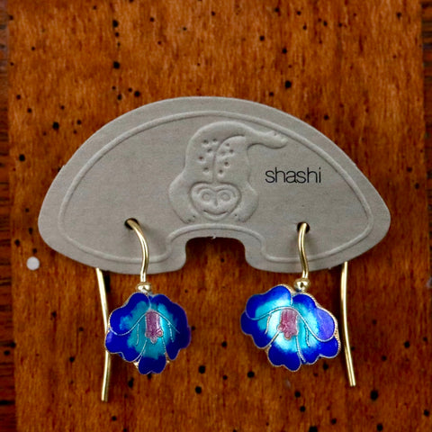 Vintage Shashi Dainty Orchid Earrings