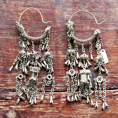 Antique Qing Dynasty Dangle Earrings