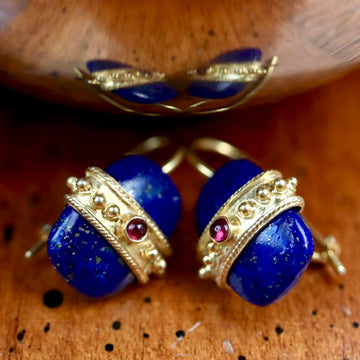 Lapis Royale Earrings