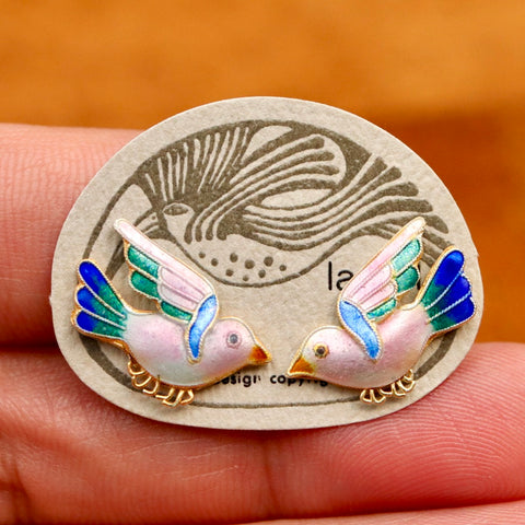 Vintage Laurel Burch Bird Studs