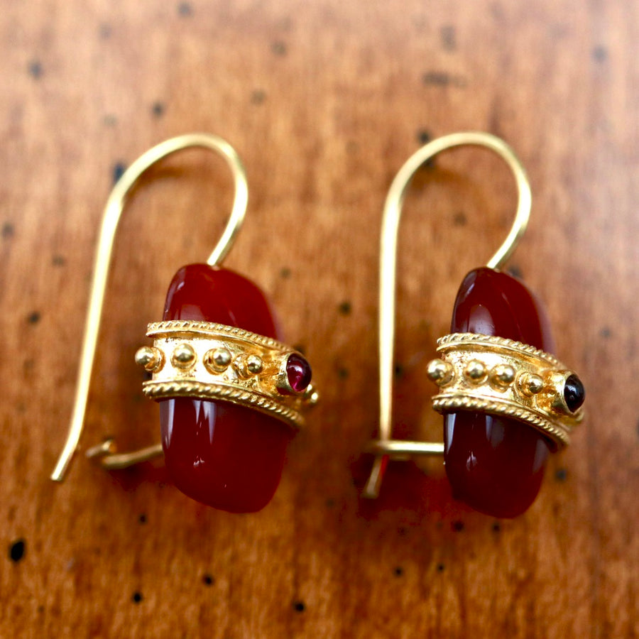 Carnelian Royal Earrings