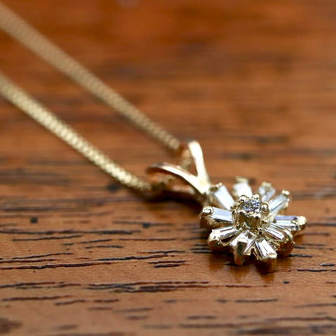Moonlight Serenade Necklace: Diamond and 14k Gold