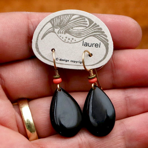 Vintage Laurel Burch Drops of Jupiter Gold-Plate Earrings