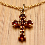 Crimea Garnet Cross Necklace