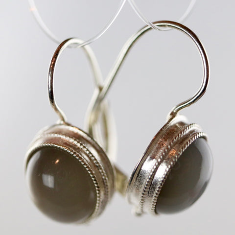 Selene's Silver Moon Chariot Earrings