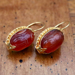 Red Sea Carnelian Earrings