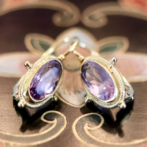 14k Whitehall Amethyst Earrings
