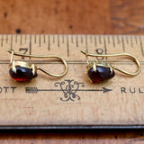 Drops of Garnet Earrings