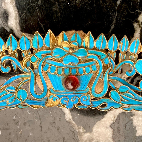 "Antique Qing Dynasty 6 1/2"" Tian-Tsui Tiara"