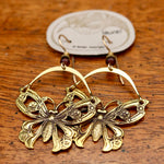Vintage Laurel Burch Articulating Butterfly Earrings